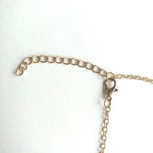Jewelry - Goldtone Long Feather Pendant Necklace Boho